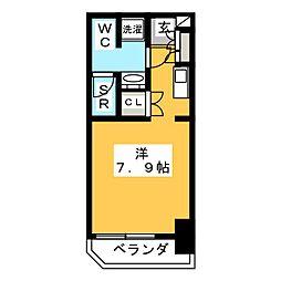 クレジデンス虎ノ門 12階ワンルームの間取り