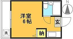 ダジュール松原[2階]の間取り