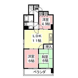 フルハウス235[4階]の間取り