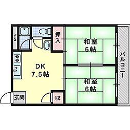 第一ニシマンション[3階]の間取り