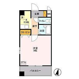 マンション多摩[2階]の間取り