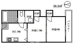 マンションヤノ[2階]の間取り