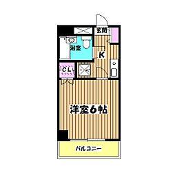 東京都八王子市並木町の賃貸マンションの間取り