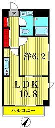 エスタシオンT.Y[3階]の間取り