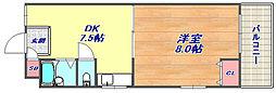 大和テラス[1階]の間取り
