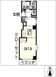 SYMPATHIQUE[5階]の間取り