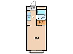 孝子ハイツ[3階]の間取り