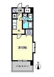 KWレジデンス東石井[303号室]の間取り