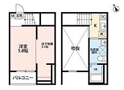 clarte 内田橋 II[2階]の間取り