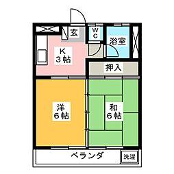 コーポ太子堂[3階]の間取り