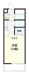エメラルド水戸弐番館[202号室]の間取り