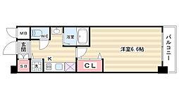 プレサンス京都二条城前風雅[3階]の間取り