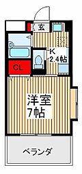 埼玉県朝霞市西原2丁目の賃貸マンションの間取り