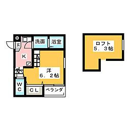 ハーモニーテラス児玉II[2階]の間取り