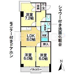 愛知県名古屋市南区北内町4丁目の賃貸マンションの間取り
