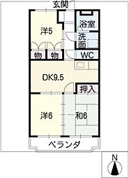 日栄マンションII[4階]の間取り