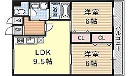 竹鼻ハイツ[302号室号室]の間取り