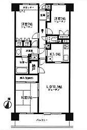 横浜西谷パーク・ホームズ[704号室]の間取り