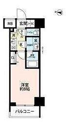 東京メトロ有楽町線 辰巳駅 徒歩14分の賃貸マンション 14階1Kの間取り