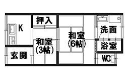 青山荘[105号室]の間取り