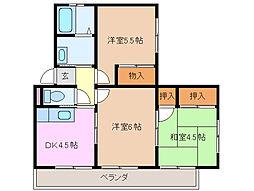三重県四日市市智積町の賃貸アパートの間取り