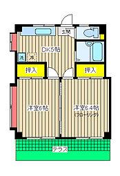 北軽井沢ハイツ[101号室]の間取り