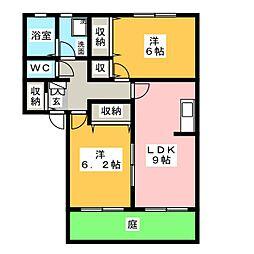 クリスタルパレス C棟[1階]の間取り