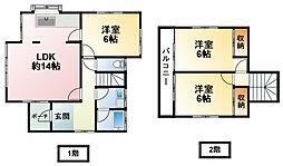 [一戸建] 千葉県山武市成東 の賃貸【/】の間取り