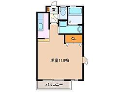 サングリーン平田[1階]の間取り