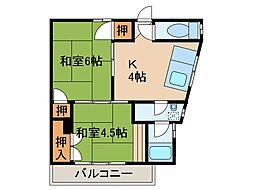 石田マンション[3階]の間取り