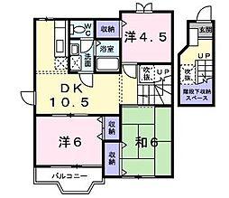 サンビレッジリリー平塚 C[2階]の間取り