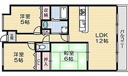 星見9番館[2階]の間取り