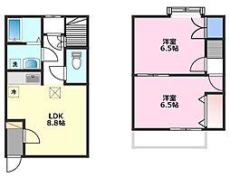 DUPLEX 川越[1階]の間取り