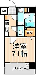 XEBEC浅草ARIA[802号室]の間取り