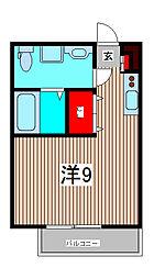 フルールワラビ[3階]の間取り