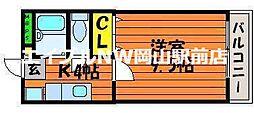 岡山県岡山市北区津島笹が瀬の賃貸マンションの間取り