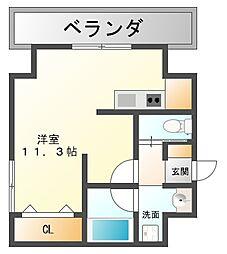 AXIS平尾1番館[7階]の間取り