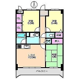 グランドール園田 211[2階]の間取り