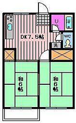 メゾンマキ 第一[102号室]の間取り