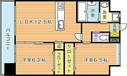 ギャラン穴生[5階]の間取り