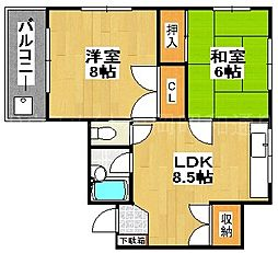 長坂ビル[3階]の間取り