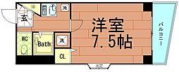 サングラン九条[2階]の間取り