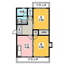 レジデンスアルタイル[4階]の間取り