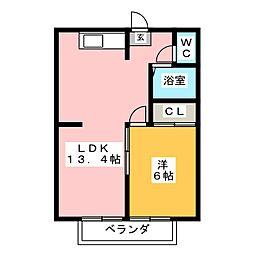 クレセントカーサ[2階]の間取り