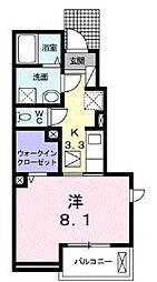 高松琴平電気鉄道長尾線 花園駅 徒歩6分の賃貸アパート 1階1Kの間取り