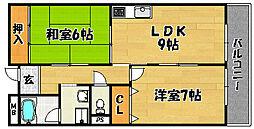 大阪府大阪市東淀川区瑞光5丁目の賃貸マンションの間取り