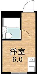 ビーバーハイツ桃ヶ池Ⅱ[5階]の間取り