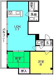 夙川ガーデンハイムI[401号室]の間取り