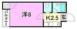F愛光マンション[207 号室号室]の間取り