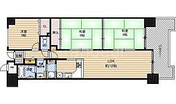 ライオンズマンション野江[13階]の間取り